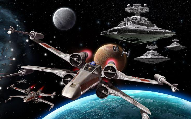 Películas La guerra de las galaxias  Star Destroyer X-Wing Fondo de Pantalla