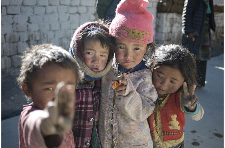 Tibetan Children - 4X4 Overland Trip from Lhasa to Kathmandu