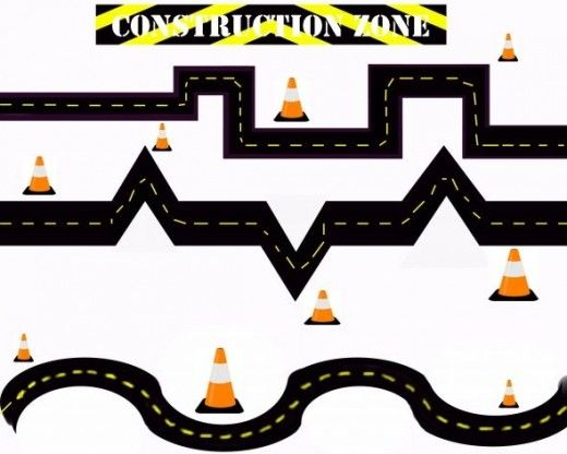 Construction Zone Fine Motor Practice