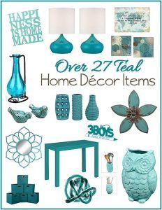 Aqua or Teal Home Decor Accent Pieces