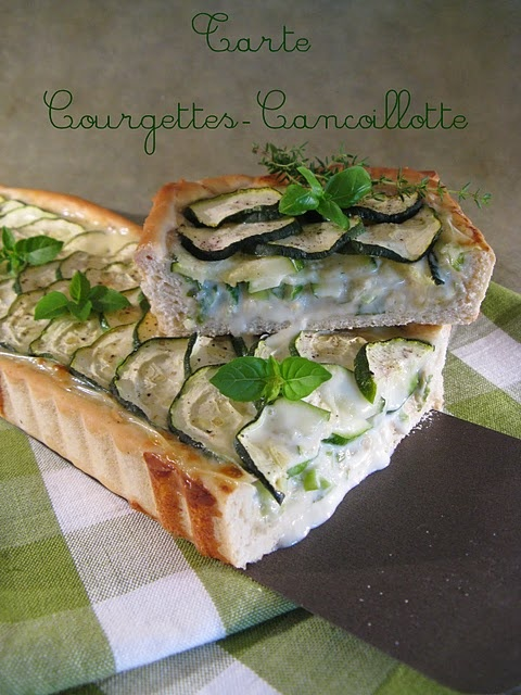 Tarte Courgettes-Cancoillotte