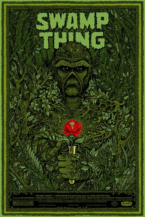 "Headline: ""B 'Swamp Thing' Poster"" (Tuesday, March 13, 2012) Image credit: Swamp Thing by Florian Bertmer for Mondo ♛ Once Upon A Blog... fairy tale news ♛"