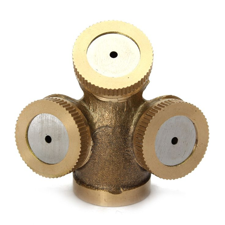 2016 New DN15 Sprayer Adjustable Brass Spray Misting Nozzle Agricultural Gardening Irrigation Lawn Equipment Sprinklers 3 Holes