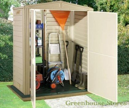 Duramax Littlehut 5x3 Plastic Shed   http://www.greenhousestores.co.uk/Duramax-5x3-Little-Hut-Plastic-Shed.htm