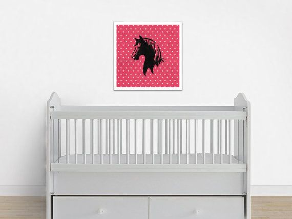 Pink Horse Print, Pink Pony Decor, Horse Nursery Art   This horse nursery print will be delivered to you as a digital file. Includes 1 JPG file that may be used to create prints of every size listed in the description below! You may print the artwork at home, via an online print shop or in a local print shop of your choice. This horse painting print would look adorable in a baby girl nursery or playroom. This horse art print may also make a fun baby shower gift. This artwork has been hand…