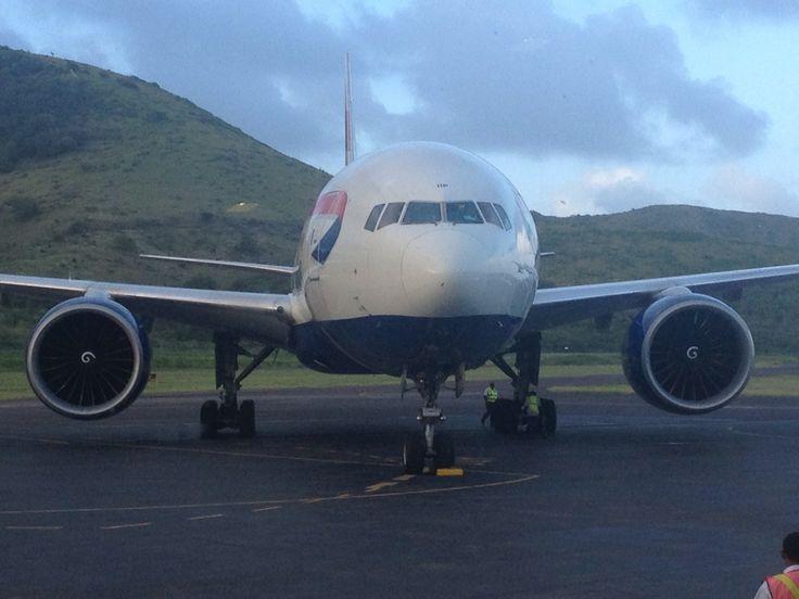 St. Kitts Robert L. Bradshaw International Airport in Basseterre, St. Kitts