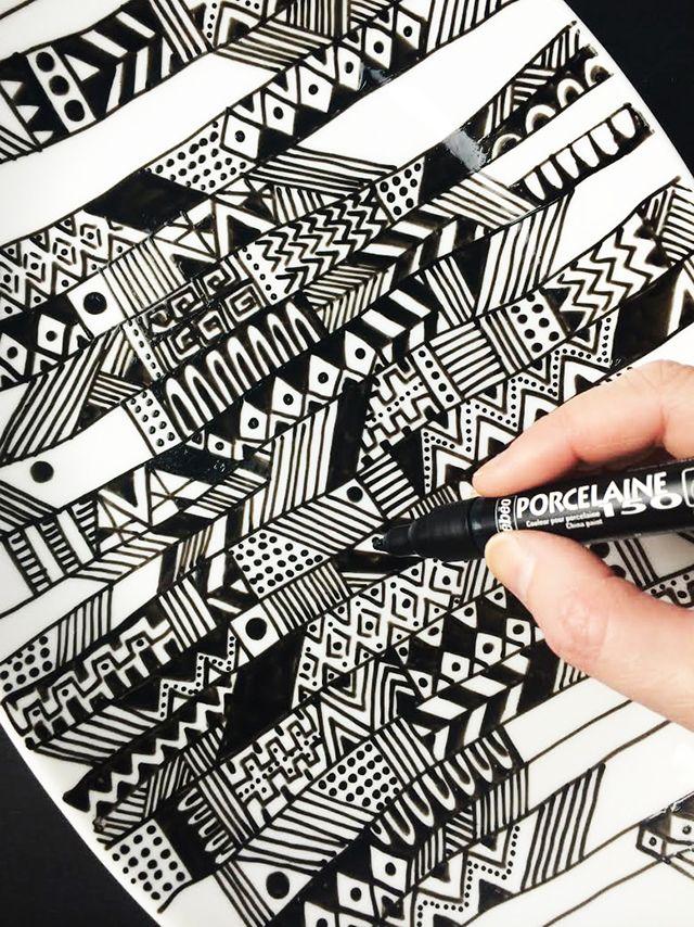 alisaburke: doodle platter