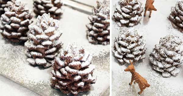 Tieto zasnežené čokoládové šiškyna Vašom stole nesmú rozhodne chýbať!Vianočná dekorácia na zjedenie, ktorú musíte skúsiť pripraviť aj Vy! Recept postup