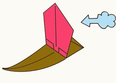 Esquemas de origami - Transportes (barco a vela - a terceira versão)