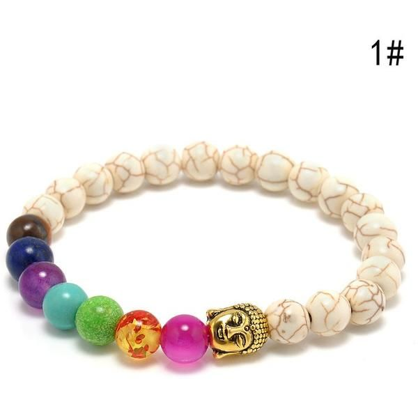 Just Released!NEW Premium 7 Chakras Healing Energy Beads Yoga Bracelet 100% Money Back Guarantee Limited Time Only This item is NOT available in stores Desc
