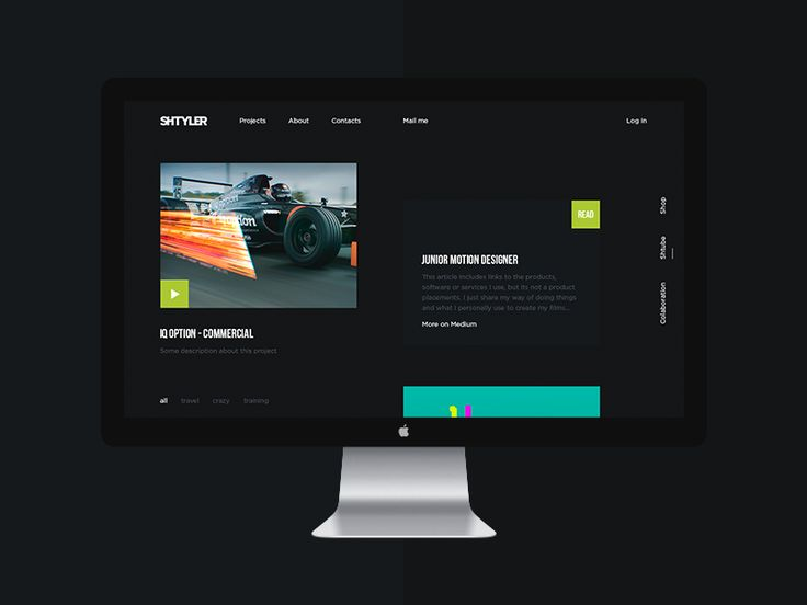 Website portfolio for motion designer Paul Shtyler by Gavril