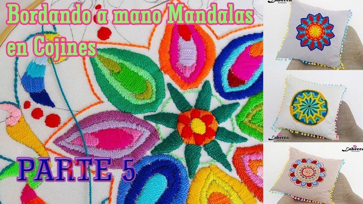 Como Bordamos a mano un Mandala By Labecca Bordados PARTE 5. COJIN DECOR...