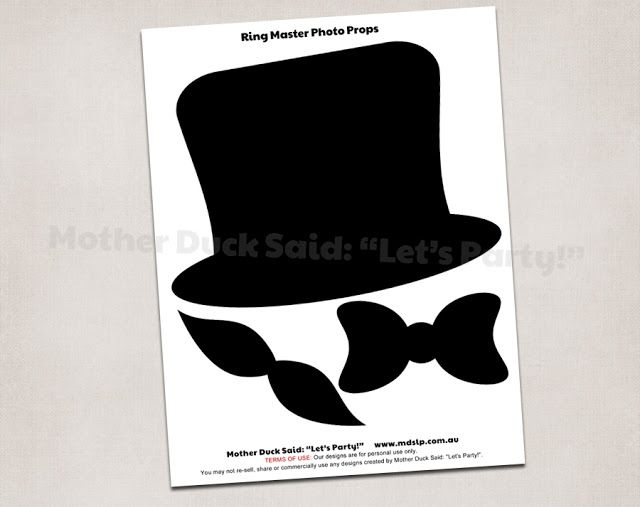 "Mother Duck Said: ""Lets Party!"": Circus Party Invitations and Printables"
