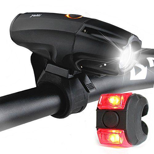 Led Beleuchtung Set Yami Lichter Usb Aufladbar Taschenlampe Zum Aufladen Lampe Mit Schalter Wasserfest Frontlichter L Fahrrad Licht Taschenlampe Fahrrad Akku