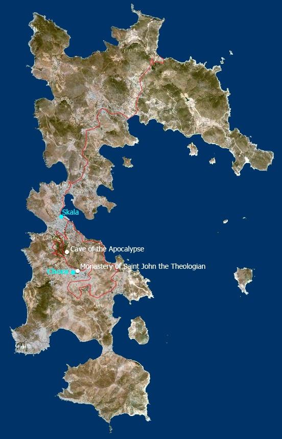 Isle of Patmos where Jesus revealed Himself to His friend John