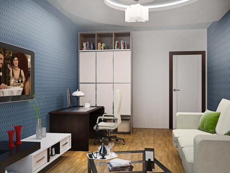 3-D визуализация кабинета. Ракурс 1