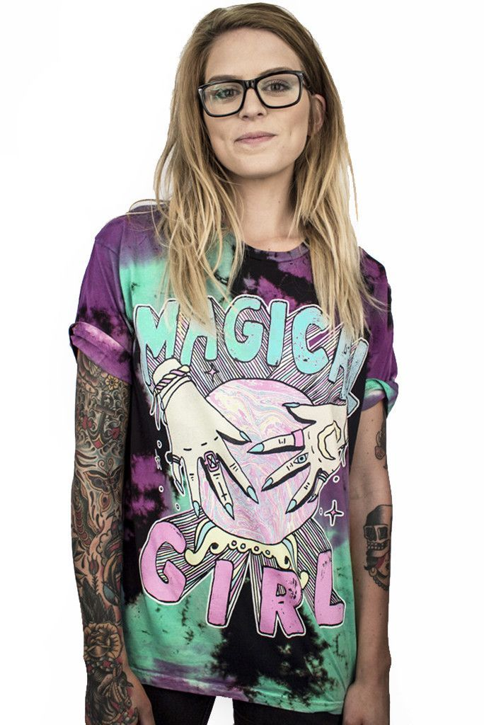MAGICAL GIRL CUSTOM TIE DYE TEE