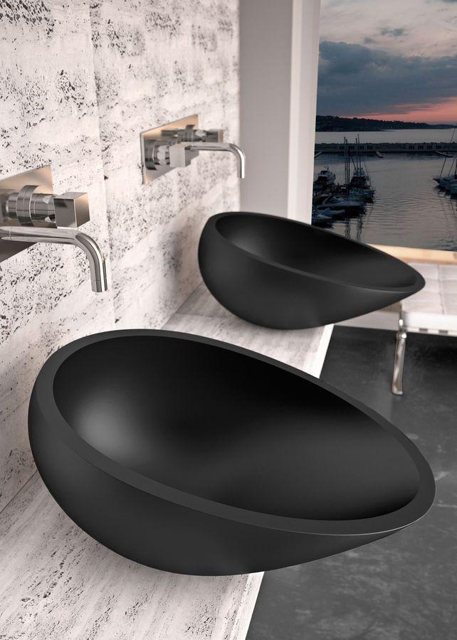 Contemporary minimalist bathroom sinks