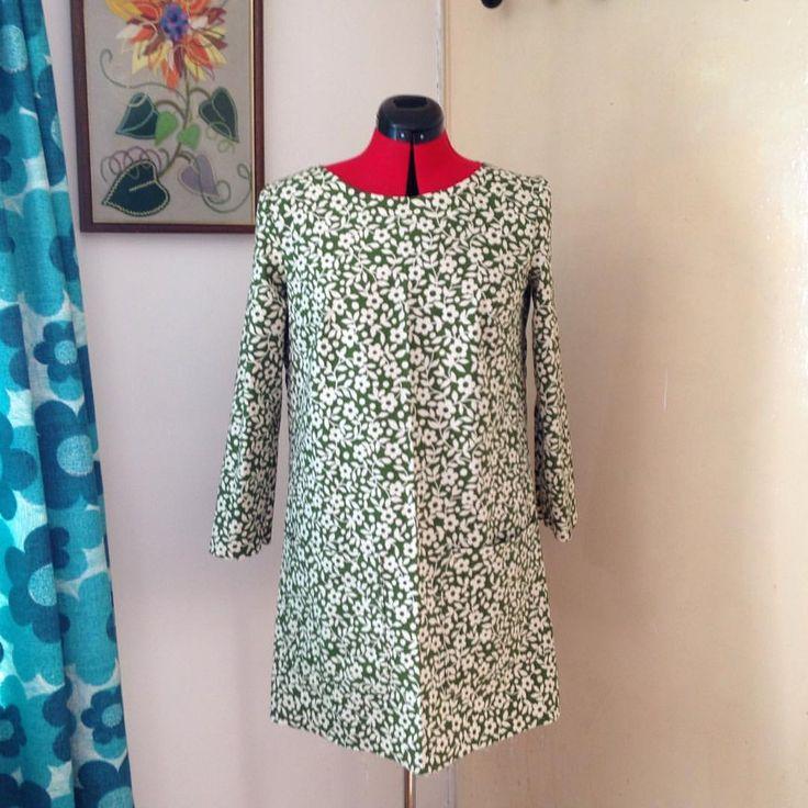 Lotta Jansdotter everyday style Esme tunic using old curtains