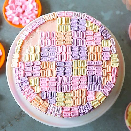 Candy and cake are two of our favorite treats, so why not put them together? #Candy is a great tool for transforming an ordinary cake into a dessert to remember. Here are 11 decorating ideas to make stand-out cakes. #cake #desserts #partyideas