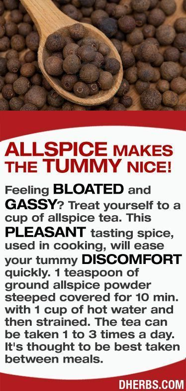 Feeling bloated and gassy? Treat yourself to a cup of allspice tea. This pleasant tasting spice, used in cooking, will ease your tummy discomfort quickly. #dherbs #healthtips #arthritisremediesknee