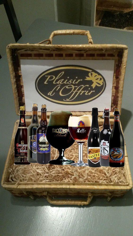 abonnement 3 mois coffret biere brune 6 bouteilles differentes + 2 verre a biere