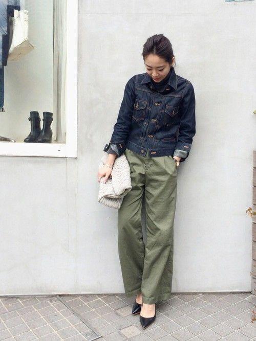 LIFE's#203代官山店   k a o r i .さんのデニムジャケット「TODAYFUL セルビッチノンウォッシュジーンズジャケット」を使ったコーディネート