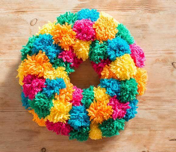 Let's make... a pompom wreath | Kiddicare BlogPompom Wreaths, Kiddicar Blog