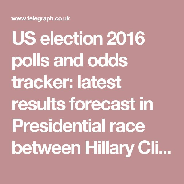 US election 2016 polls and odds tracker: latest results forecast in Presidential race between Hillary Clinton and Donald Trump