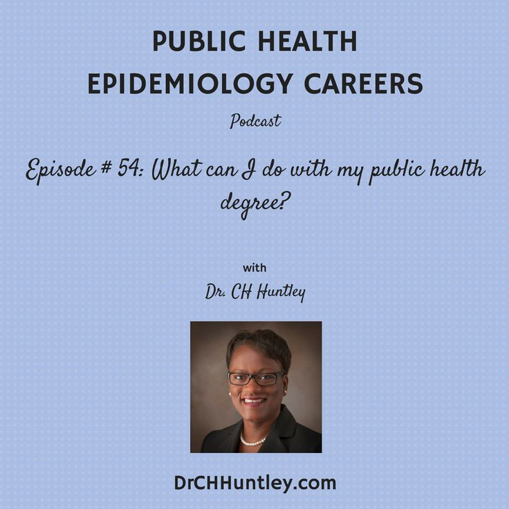Episode 54 what can i do with my public health degree