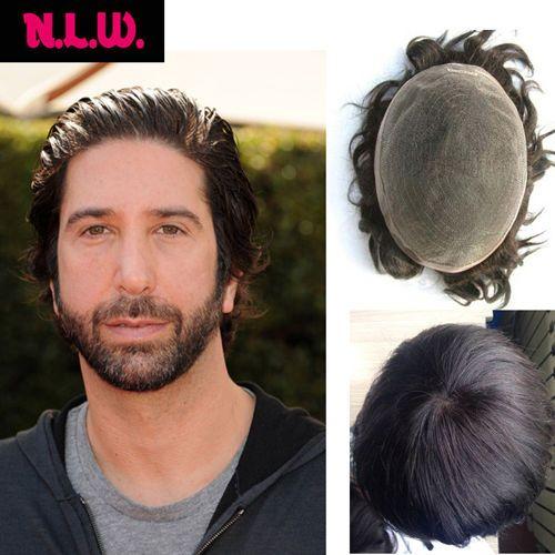 NLW 100% Real European Hair fashion straight men's toupee Hairpiece Replacement #NLW #Toupeeformen