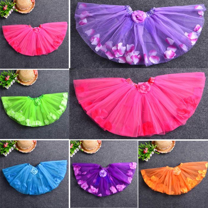 Baby Girls Kids Petal Camellia Flower Dress Up tutu Dance Short Dress PettiSkirt in Clothes, Shoes & Accessories, Fancy Dress & Period Costume, Fancy Dress | eBay