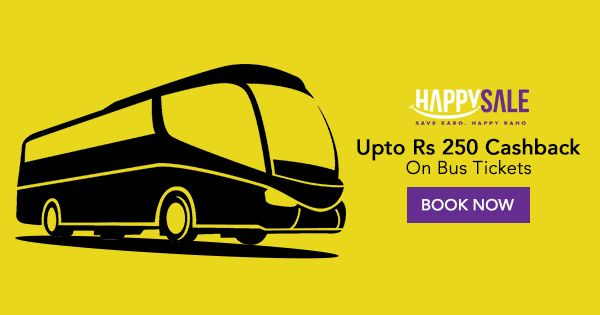 Traveling this month? Book your bus tickets online to save upto Rs 250 #SaveKaroHappyRaho