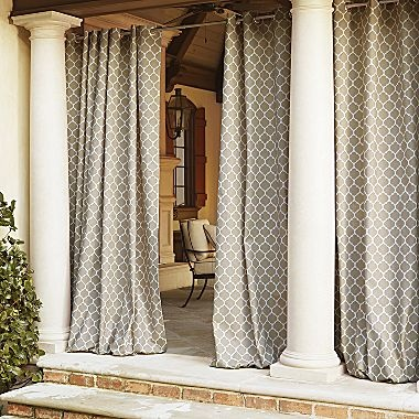 curtain panels good idea for when we get our hot tub one day