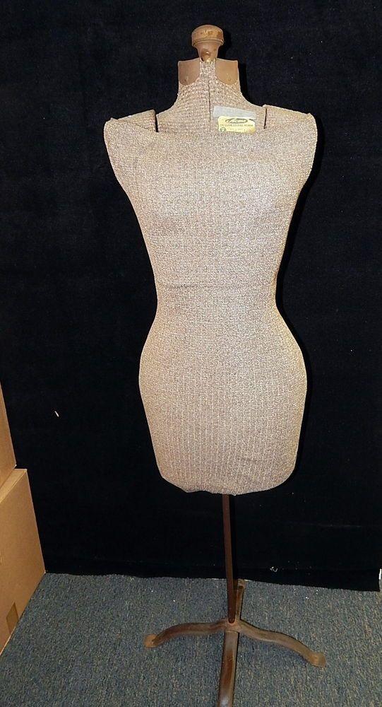 Vintage Acme Deluxe Living Form Adjustable Mannequin Bust Antique Dress Form #Acme
