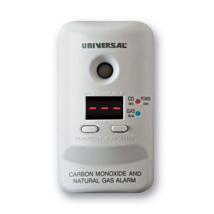 Universal Security Instruments Plug-In Combination Carbon Monoxide and Natural Gas Alarm