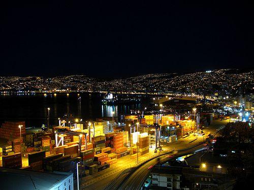 Noche en Valparaíso