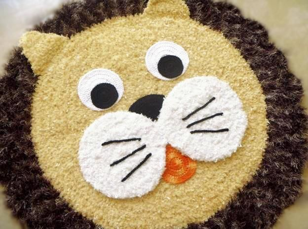 Vanecroche e patch: Tapete Leão croche com passo a passo
