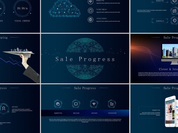 Business Infographic Best Smart Technology Powerpoint