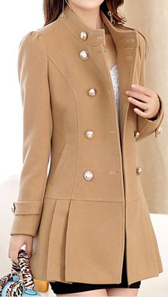 drop waist camel coat