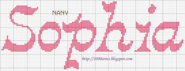 1000 Artes: Sophia - nomes em ponto cruz