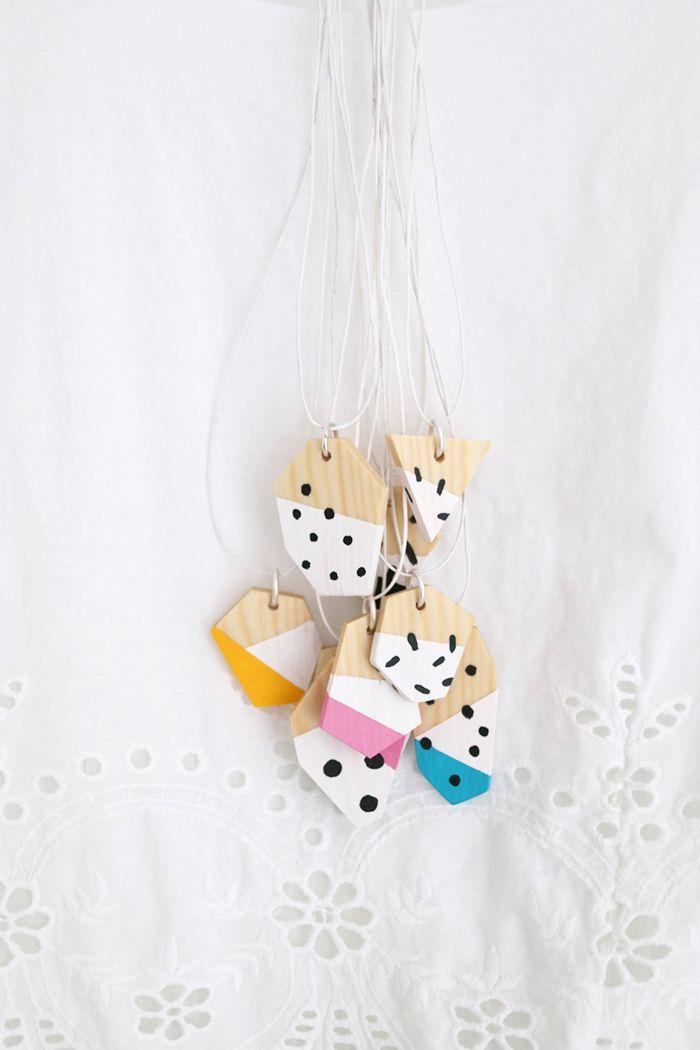 Luloveshandmade: DIY: Wooden Geometrical Necklaces