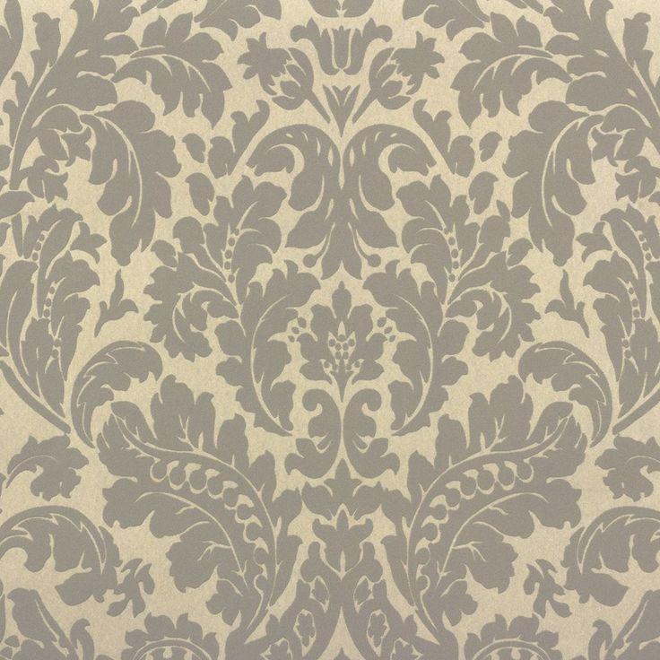 rasch barock tapete 545630 barock grau beige metallic - Tapete Grau Beige