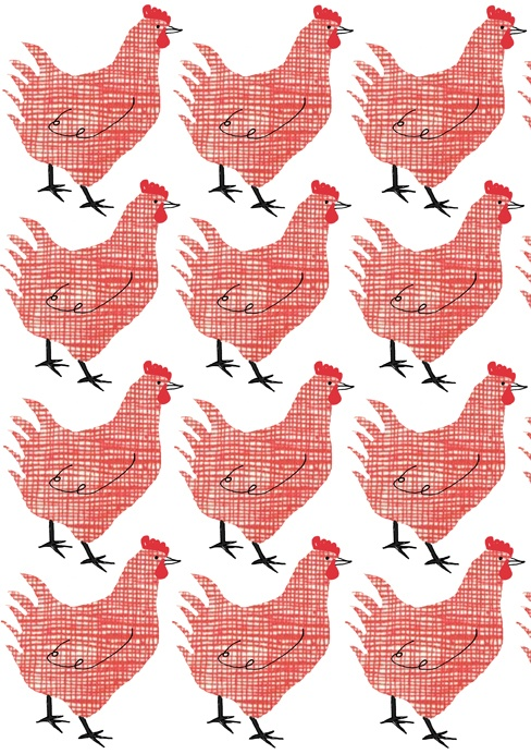 ©Alanna Cavanagh Checkered Hen #pattern #surface #design
