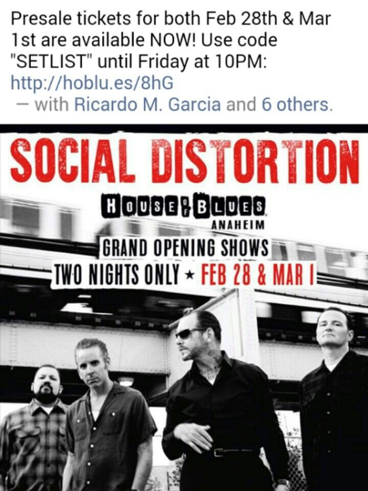 Social Distortion #2017 *These are gonna go quick :(
