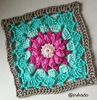 Crochet Mood Blanket 2014 - June Square - ♡ by Pukado ✿⊱╮Teresa Restegui http://www.pinterest.com/teretegui/✿⊱╮: