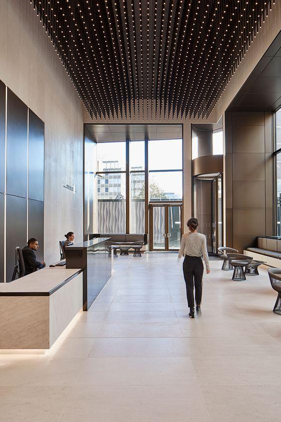 LLL Hotel Lobby Interior Design, Lobby Reception, Hotel Interiors, Office  Interiors, Ceiling