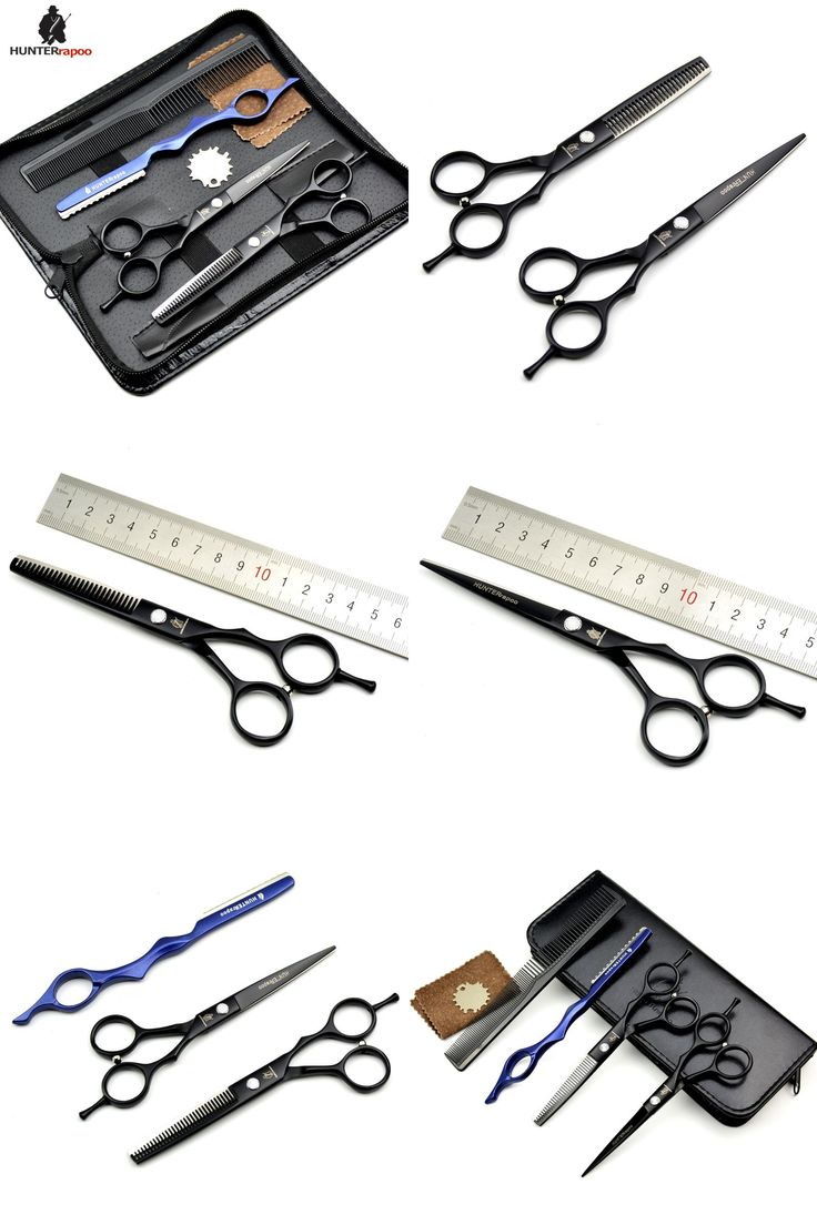 """[Visit to Buy] 50% Off Free Shipping 5.5"""" Professional Barber Thinning Shears Hair Cutting Scissor Set Hair dressing haircut scissors for salon #Advertisement"""