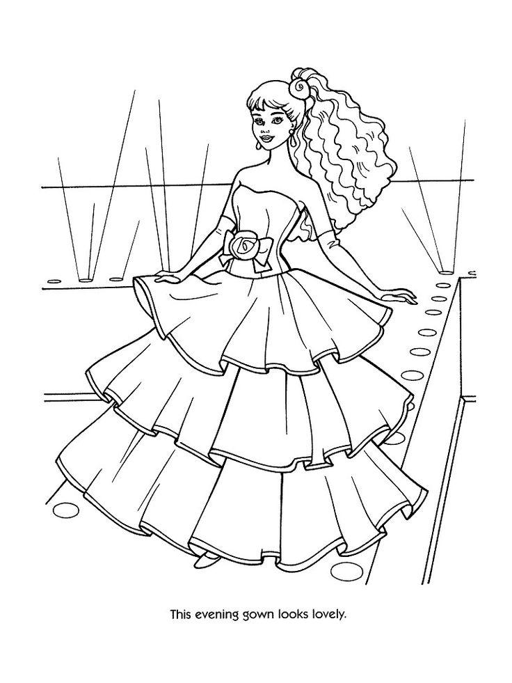 Coloriage à imprimer : Personnages célèbres - Barbie numéro 244225