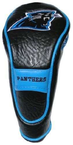 NFL Carolina Panthers Hybrid/Utility Headcover by Team Golf. $17.99. Velour lined for extra club protection. Made with Buffalo Vinyl, Polyester Knit and Mesh. 4 location embroidery. Fits all utility, rescue and fairway clubs. Velcro closure. NFL Carolina Panthers Hybrid/Utility Headcover